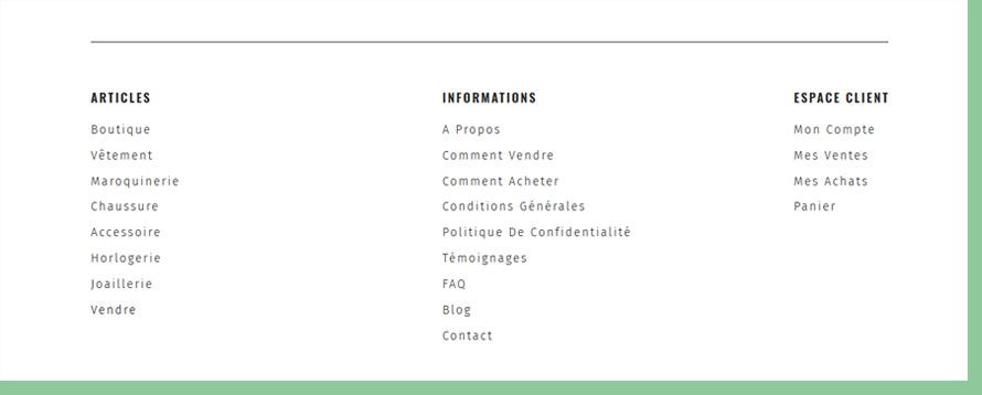 UX - Footer menu