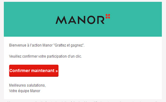 Email de confirmation de participation
