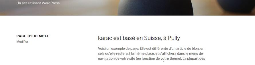 affichage du CSS par défaut