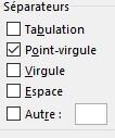 Excel, séparateur