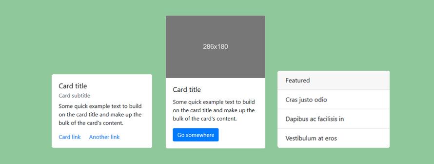 Les cards de Bootstrap 4