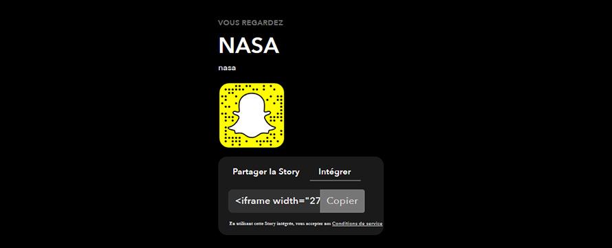 Comment intégrer une story Snapchat sur un site internet